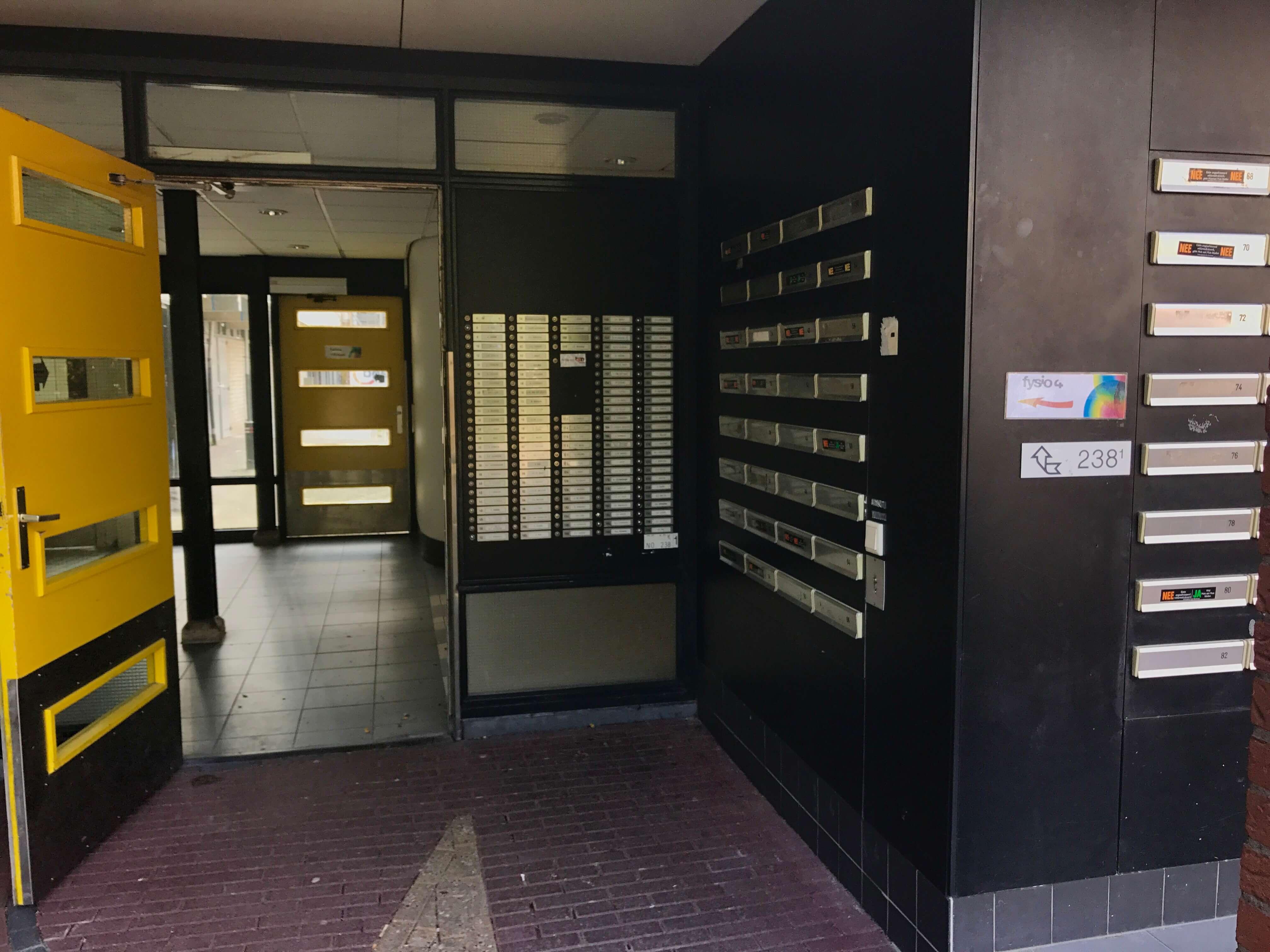 Fysio 4 Berkenlaan Selwerd Groningen - ingang gebouw
